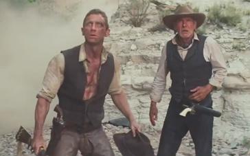 《牛仔和外星人》预告片 哈里森并肩克雷格保卫战