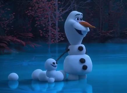 《冰雪奇缘2》最新番外 扔雪球的雪宝 结果找到新乐趣