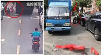 心碎!母亲骑电动车送儿子上学幼童摔落遭货车碾压身亡