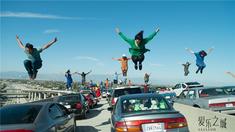爱乐之城 洛杉矶高速公路堵车片段