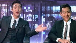 韩籍车手郑知元和新人王仇铭参加采访 两人相互枪声到底谁能赢