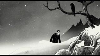 男子艰难的逃离了政府冒着风雪走了几天几夜