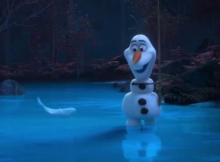 《冰雪奇缘2》最新番外 雪宝钓鱼好做作 已笑疯