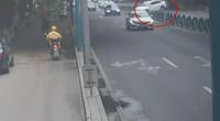 江苏:父亲试开儿子新车 结果一脚油门下去 横越马路飞了出去!