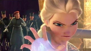 冰雪奇缘(片段)爱莎女王发威