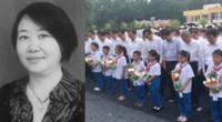 河南女教师护学生被撞身亡 4000多人参加追悼会送她最后一程