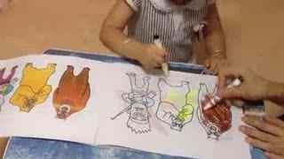亲子游戏 萌宝学习宝宝涂色画之《熊出没》光头强熊大熊二动画片_01