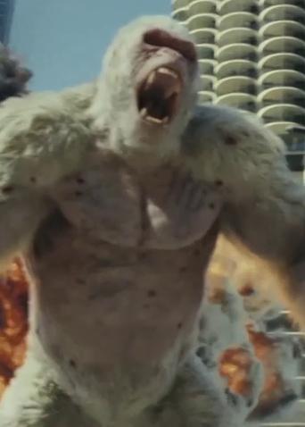 《狂暴巨兽》定档4月13日同步北美 巨石强森为救世界对抗惊天巨兽!