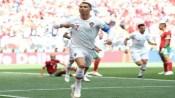 C罗头球得分!葡萄牙1:0摩洛哥