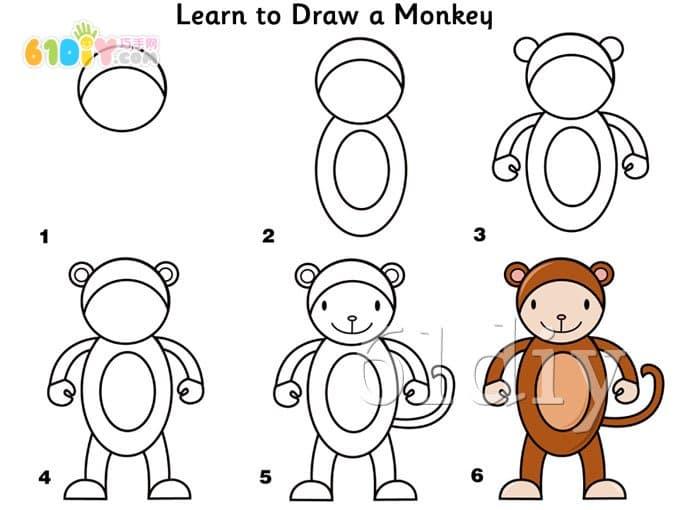表情 简笔画猴子害怕的表情 简笔画猴子害怕的表情画法 表情