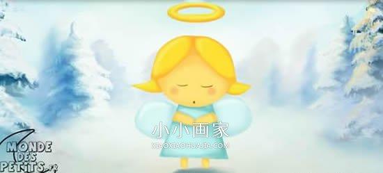 表情 可爱小天使简笔画画法图片步骤 小小画家 表情