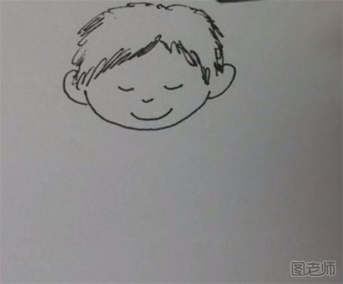 表情 图 弹吉他小男孩简笔画教程弹吉他小男孩怎么画 表情