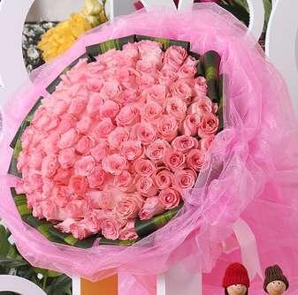 表情 99朵粉玫瑰花束 乐乐简笔画 表情