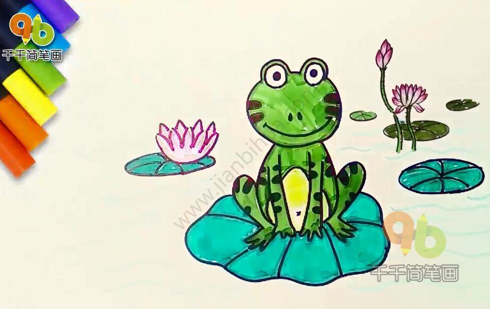 表情 我爱小青蛙儿歌简笔画,庄稼的保护神 简约型文化普通难度 海洋动物 千  表情