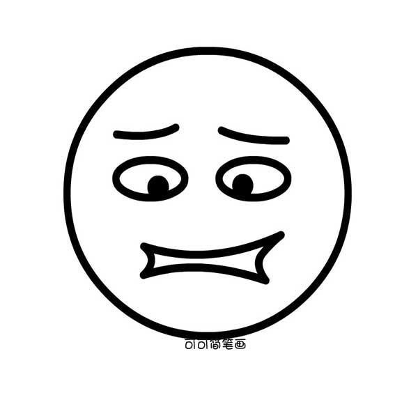 表情 男士面部表情简笔画 男士面部表情简笔画分享展示 表情