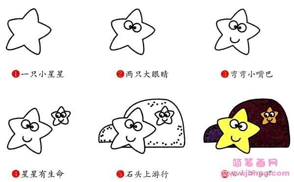 表情 海星简笔画画法步骤 怎么画海星 简笔画网 表情