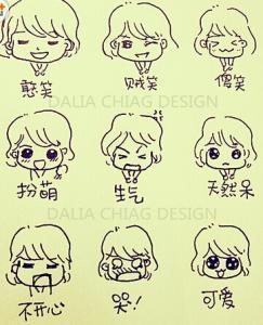 表情 人物表情图喜怒哀乐简笔画 18张 表情图片 表白图片网 表情