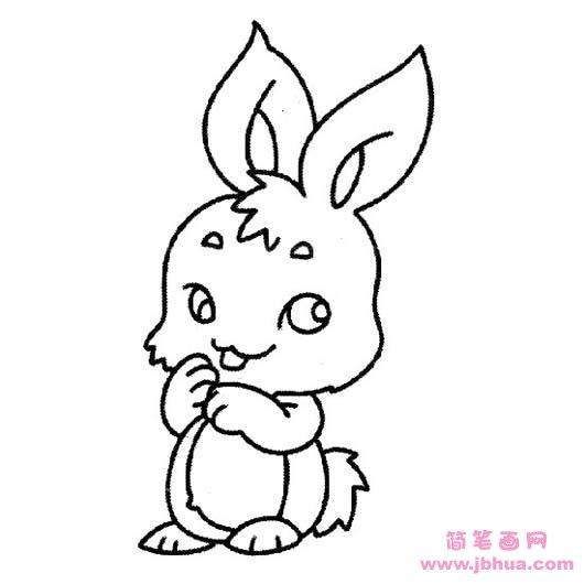 表情 幼儿可爱卡通小白兔简笔画 简笔画网 表情