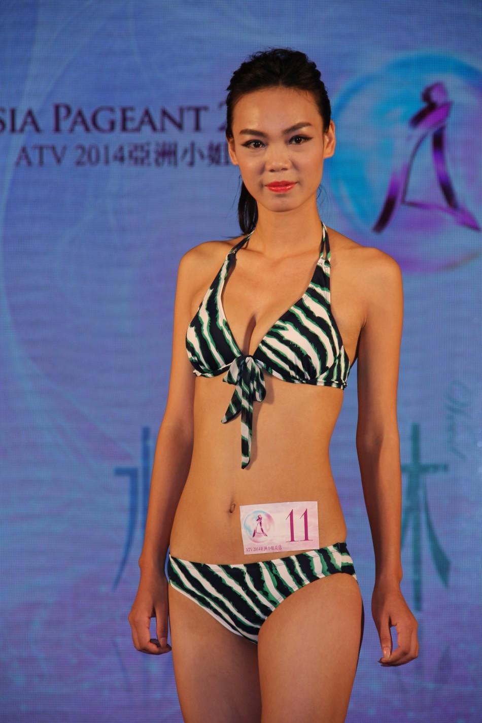 亚洲小姐广州海选 选手泳装亮相图片