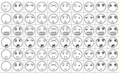 表情 画在手指上的简单表情,简单画表情,简单易画的小表情,在指头上画简单的  表情