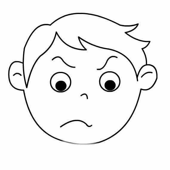 表情 生气男孩简笔画图片 生气的男孩头像简笔画 育才简笔画 表情