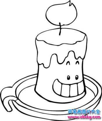 表情 怎么画卡通蜡烛简笔画 卡通简笔画 儿童简笔画图片大全 表情