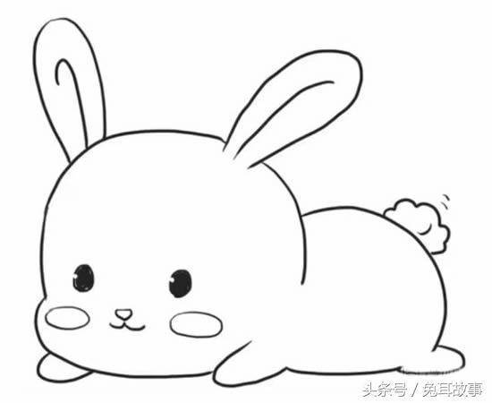 表情 超可爱的小兔子简笔画,孩子的最爱 表情