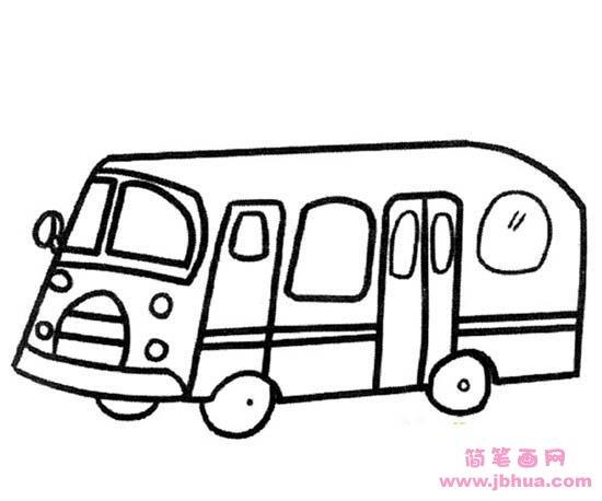 表情 有关公共汽车的简笔画 简笔画网 表情