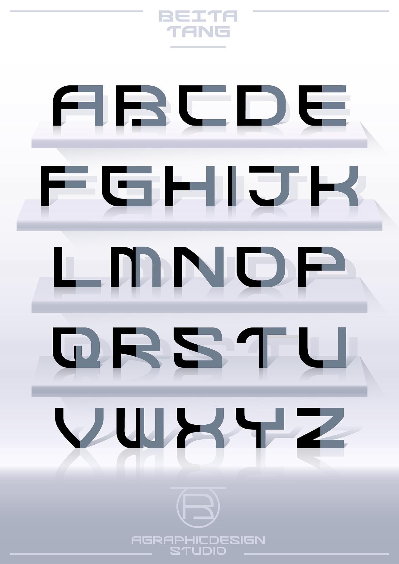 表情 26个英文字母字体与版式设计 平面 字体 字形 贝塔唐 原创作品 站酷  表情