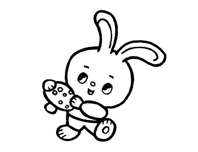 表情 采蘑菇的小兔子简笔画图片小逗汇智幼教网 表情