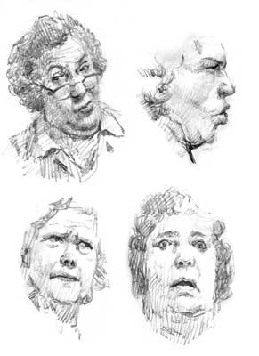 表情 速写人物生动表情,人物表情简笔画,卡通人物表情 点力图库 表情