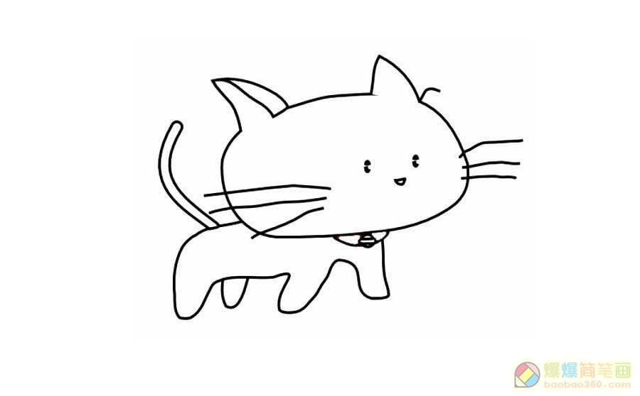 表情 可爱的小猫简笔画大全 爆爆网 表情