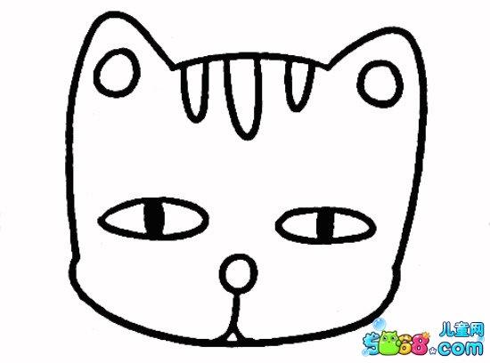 表情 坐立的小花猫怎么画 小花猫简笔画画法步骤教程 2 5068儿童网 表情