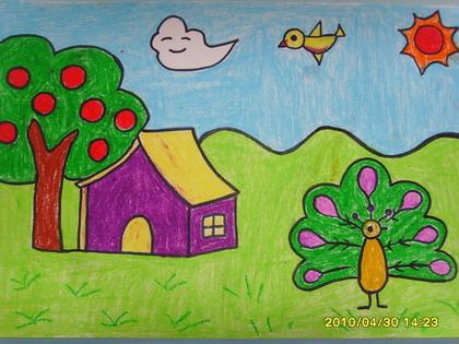 表情 我的理想家园简笔画 我的理想家园图片欣赏 我的理想家园儿童画画作品  表情