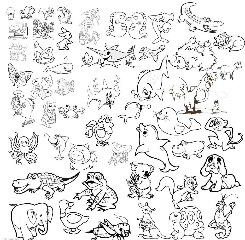 表情 儿童画动物简笔画 六一儿童网 表情