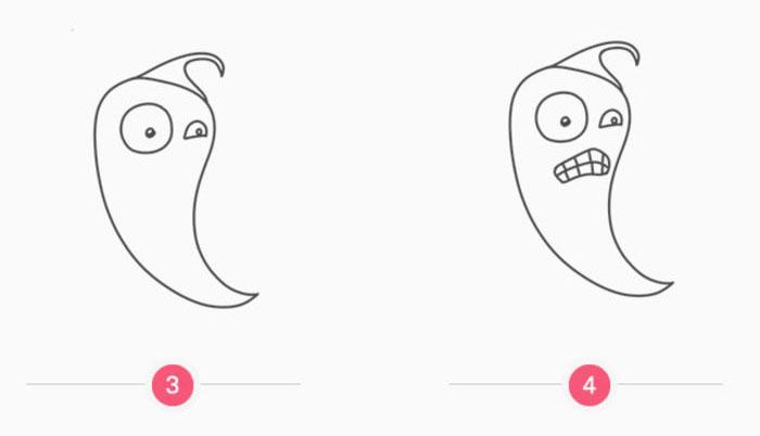 表情 火爆辣椒怎么画火爆辣椒简笔画画法火爆辣椒卡通画儿童画 图片 4P  表情