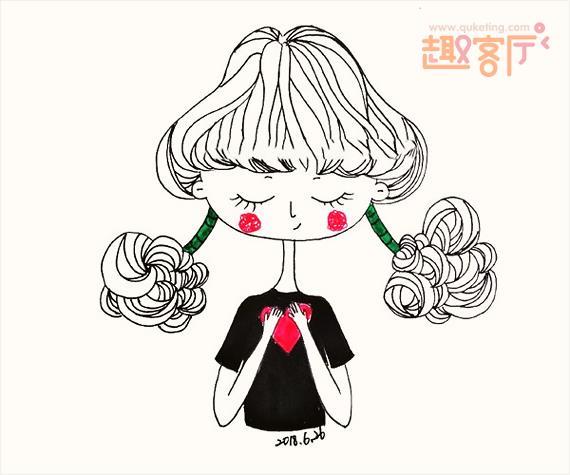 5图 小女孩简笔画简笔画小女孩抖音 趣客厅 表情