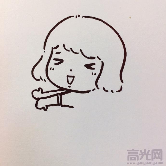 表情 简单儿童简笔画教程,可爱的表情包简笔画步骤图 高光网 表情