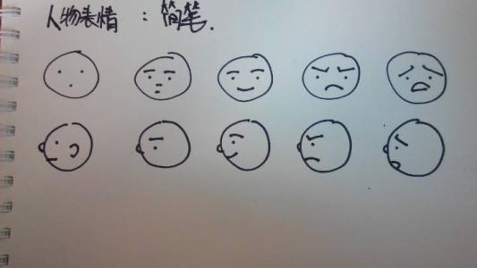 表情 劳累的脸部表情简笔画大全 卡通人物脸部简笔画 表情