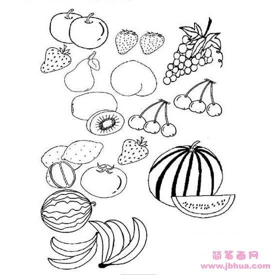 表情 幼儿各种水果简笔画大全 简笔画网 表情