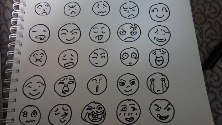 表情简笔画图片大全 简笔画 50种萌表情简笔画 七星软件网 表情