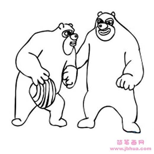 表情 熊出没熊大熊二简笔画图片大全 简笔画网 表情