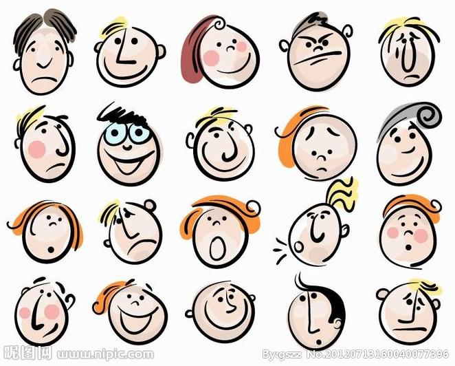 表情 卡哇伊 卡通表情图片之卡通人物表情图标矢量图推荐 卡通表情图片 卡通图片网 表情