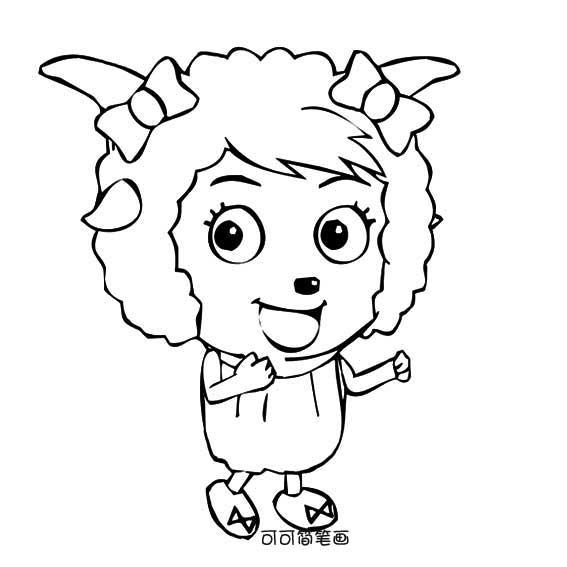表情 卡通简笔画画法之美羊羊简单画法 育才简笔画 表情