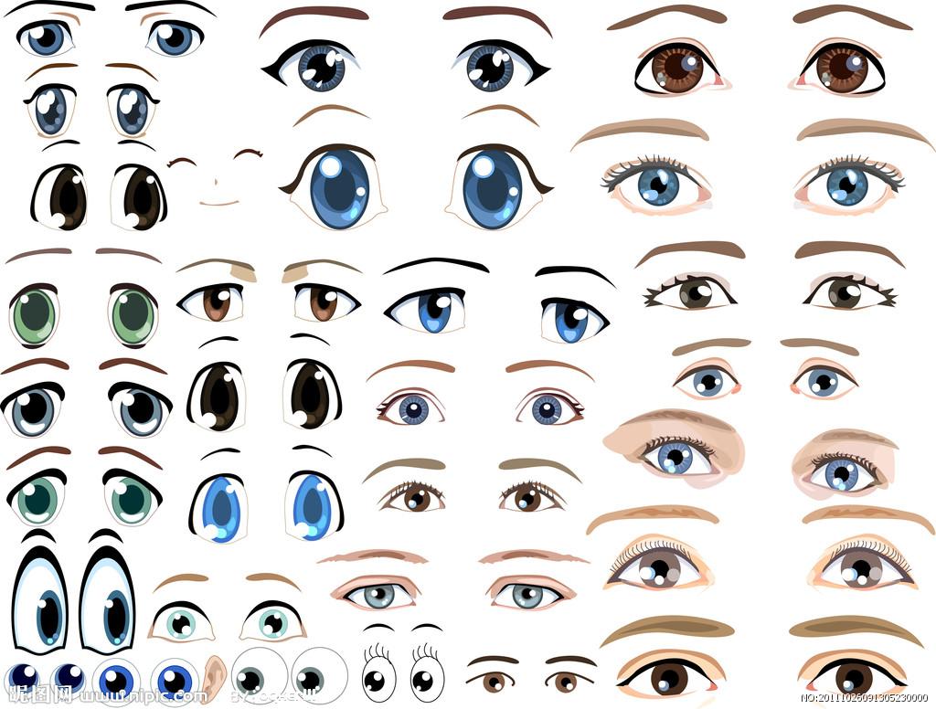 表情 怎样用铅笔画出漫画人物眼睛里的期待 百度知道 表情