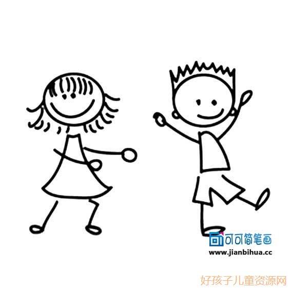 表情 卡通简笔画情侣小人 12张 2 情侣图片 表白图片网 表情