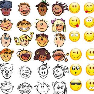 表情 卡通人物表情简笔画 日本卡通人物简笔画 表情