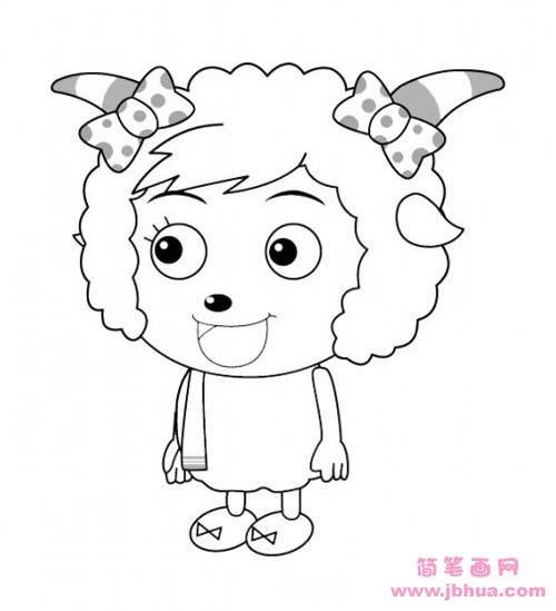 表情 儿童关于美羊羊的简笔画图片 简笔画网 表情