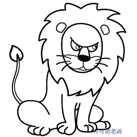 表情 儿童简笔画狮子 可可简笔画 表情
