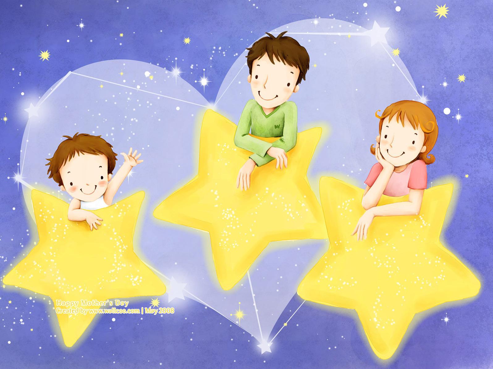表情 母亲节微信表情之壁纸1600 1200母亲节幸福家韩国插画壁纸 母图片大全  表情